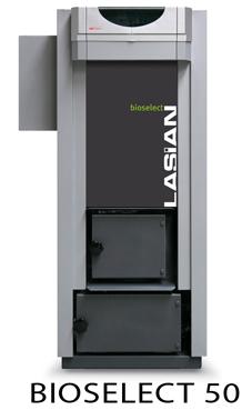 LASIAN BIOSELECT 45 caldera de pie de policombustibles sólidos(para pellets, cascara de almendra, orujillo, hueso de oliva,etc,...) de 45 KW.solo calefacción.