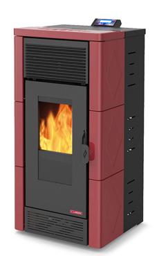 LASIAN TEON PLUS de  3,8 a 12 Kw. calentamiento mediante aire canalizable de 12 KW de potencia térmica máxima. Capacidad de calentamiento de 200 m3 (modelos en burdeos y beige)  con mando a distancia.
